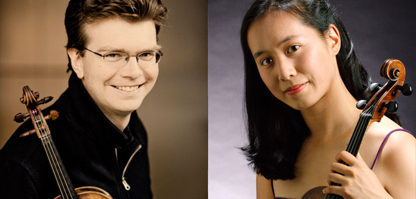 Violinist Scott St. John and violist Sharon Wei